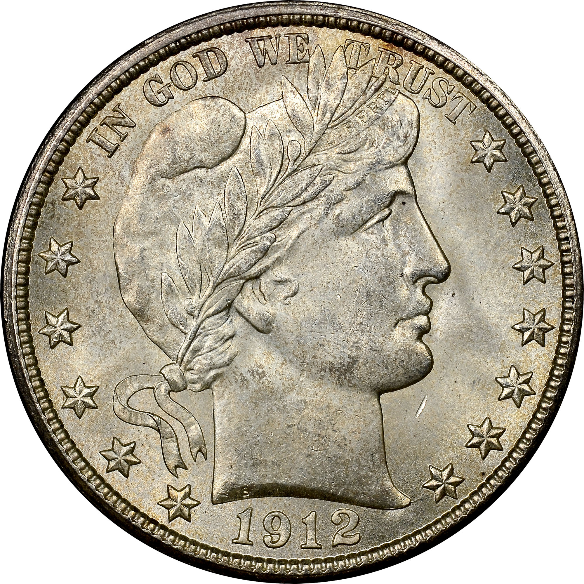 D 50c Ms Barber Half Dollars