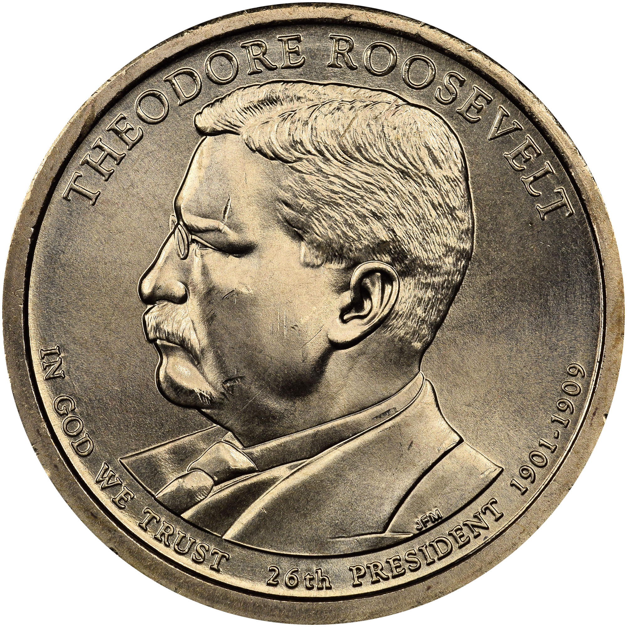P Theodore Roosevelt 1 Ms Presidential Dollars