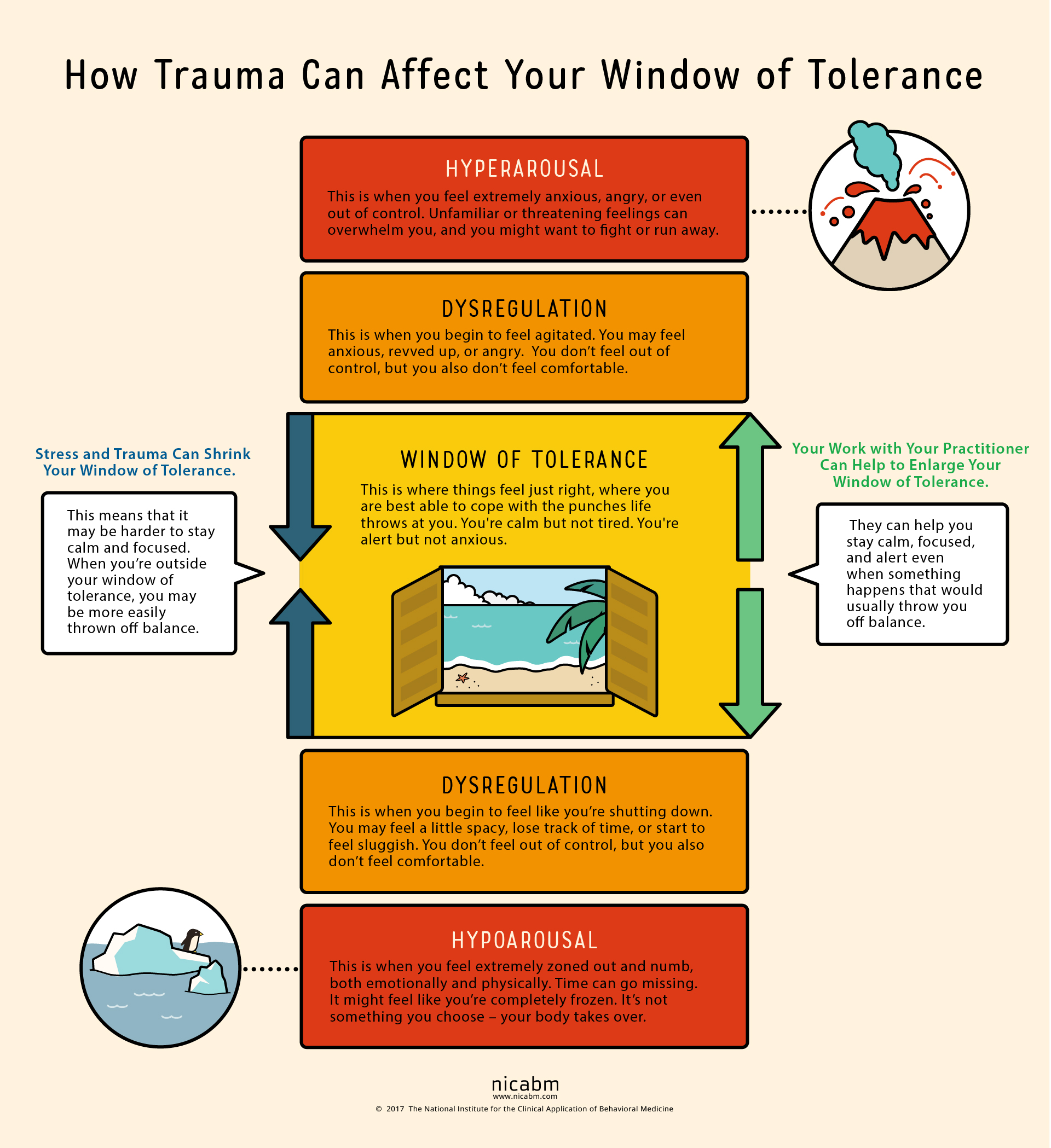 How To Help Your Clients Understand Their Window Of Tolerance Infographic