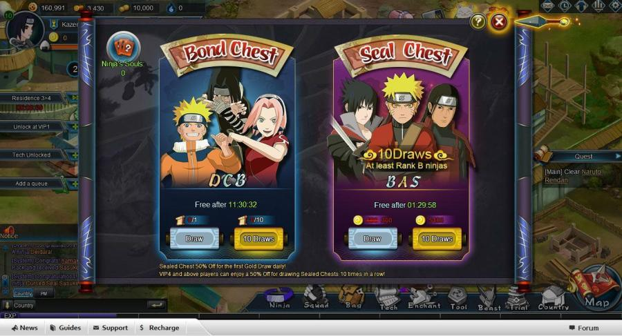 Clash of Ninja   Online Anime Games     Lottery House in Clash of Ninja