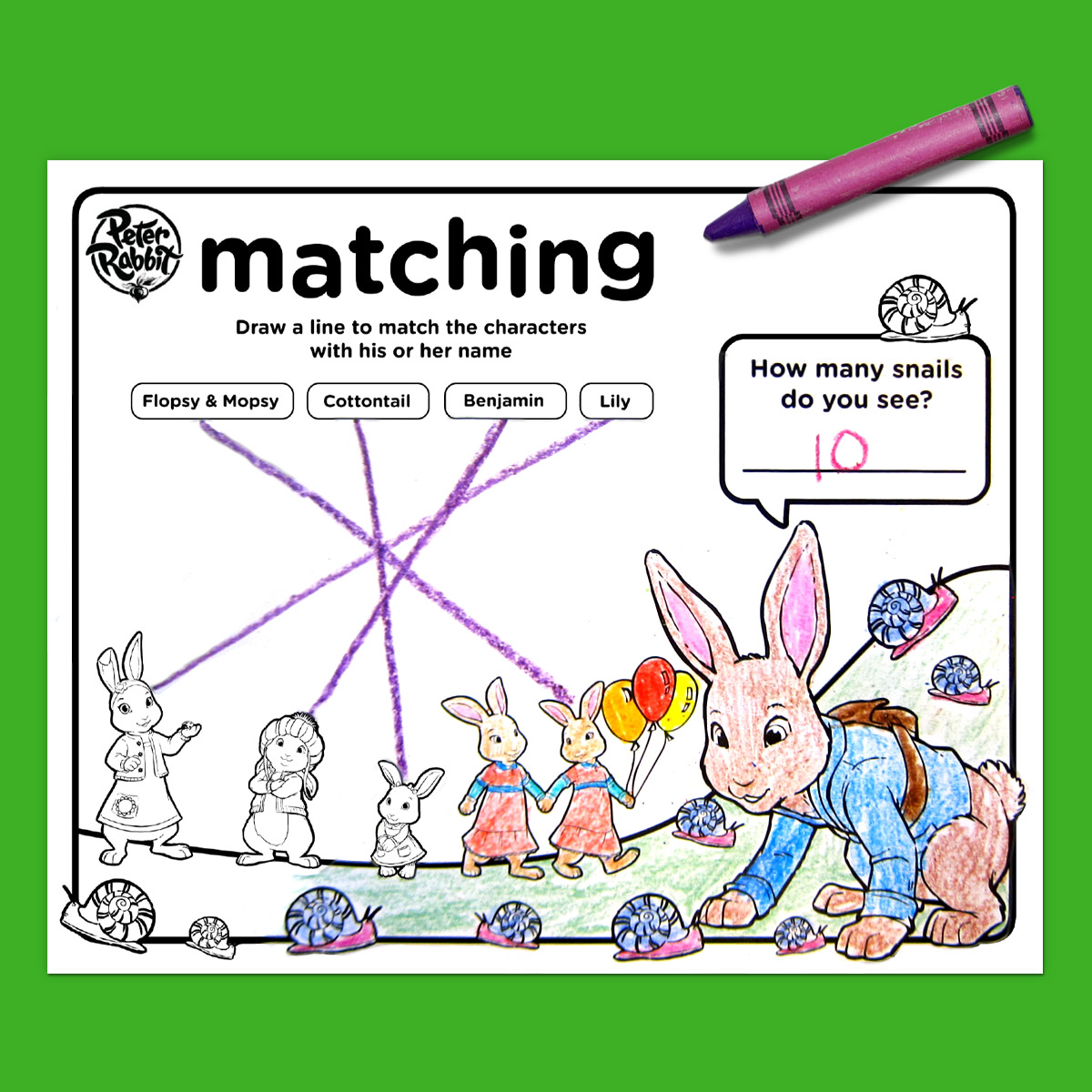 Peter Rabbit Party Placemats