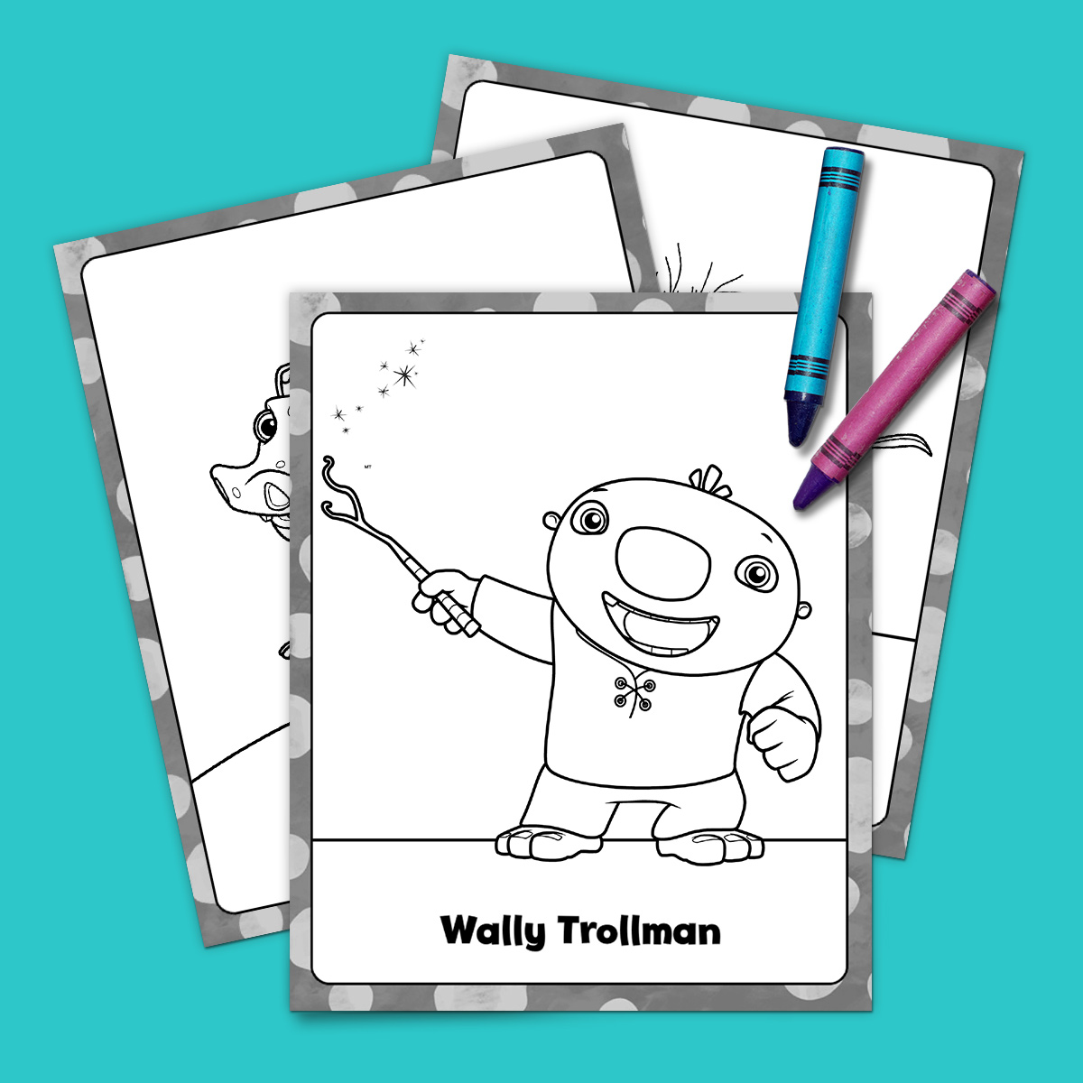 Wallykazam Coloring Pack