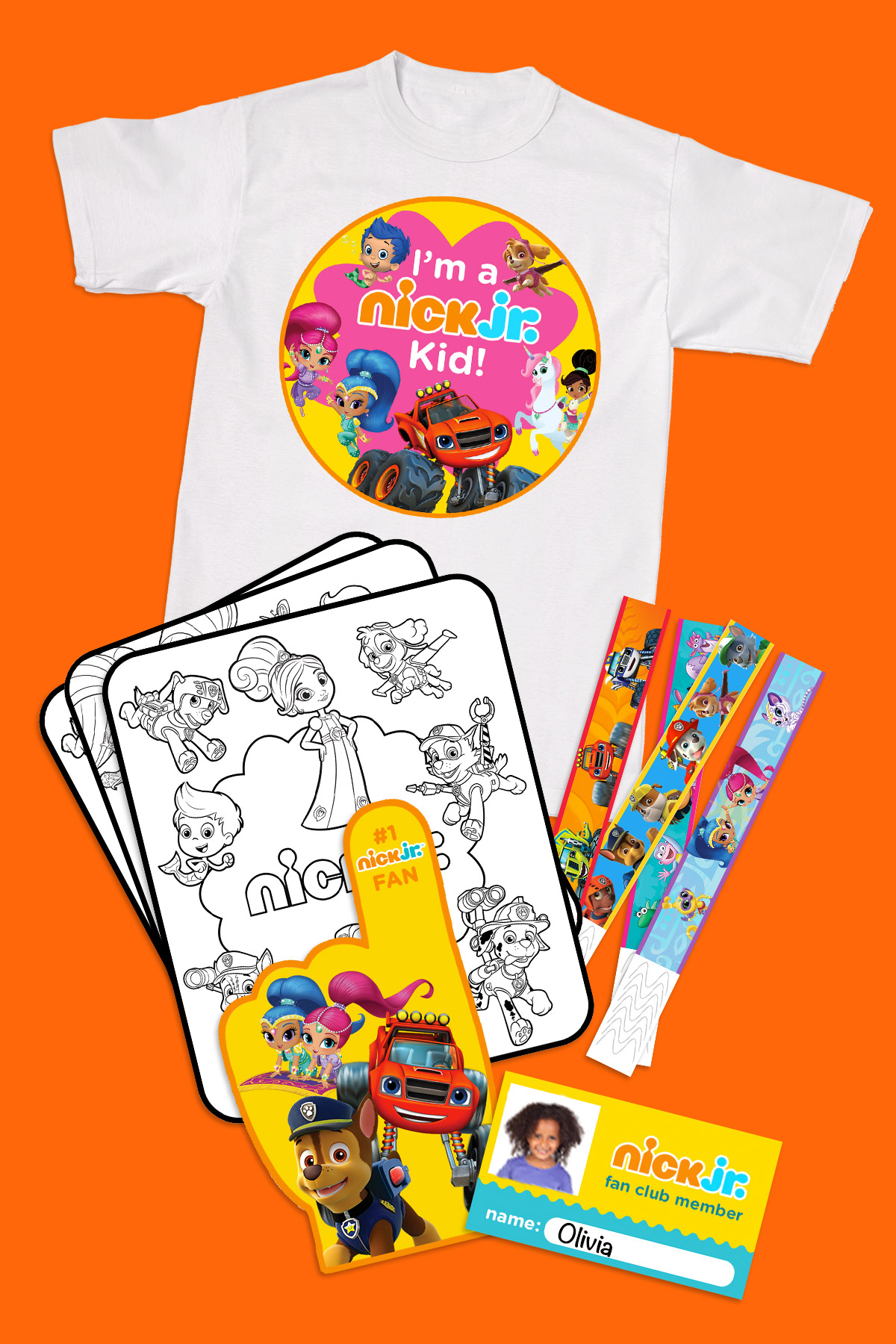 Print Your Nick Jr Fan Club Membership Kit