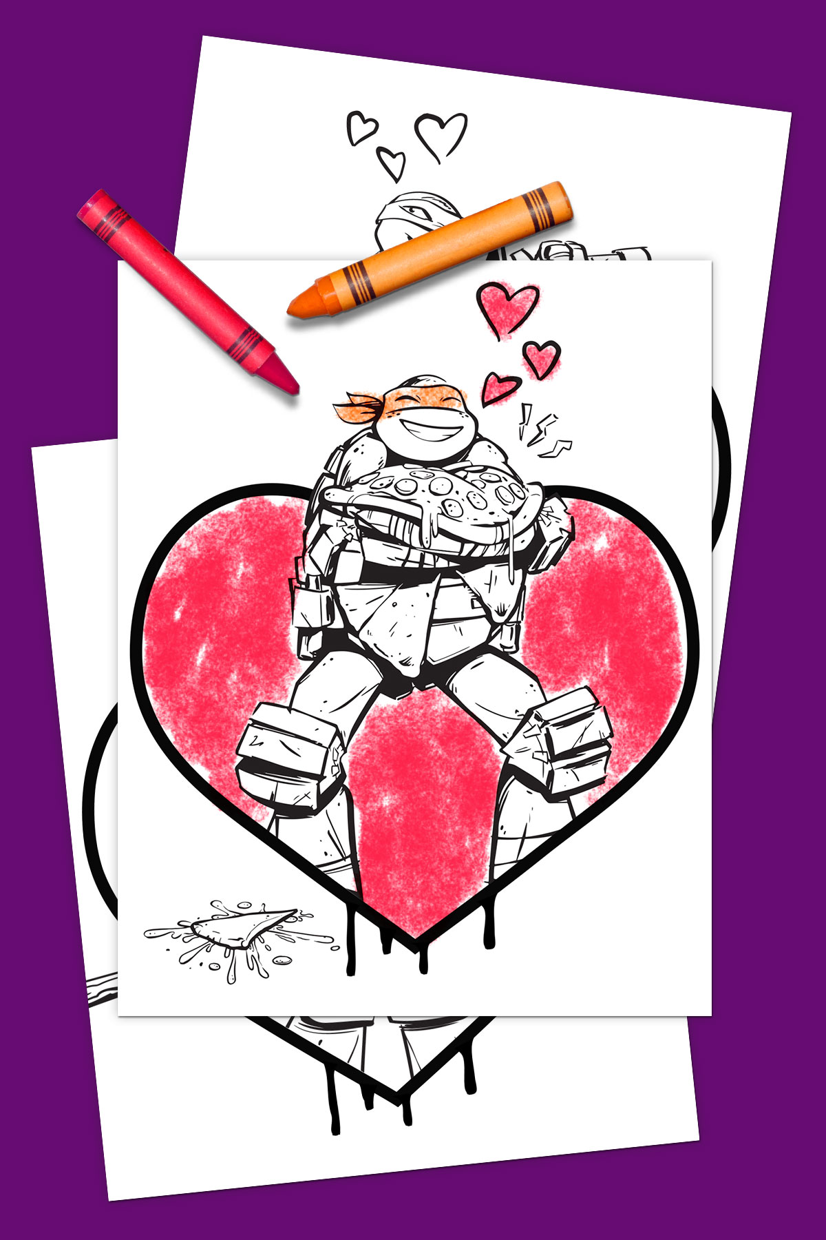 Tmnt Valentine S Day Coloring Pack