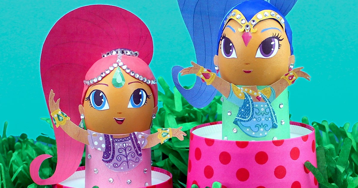 DIY Shimmer And Shine Easter Egg Craft Nickelodeon Parents