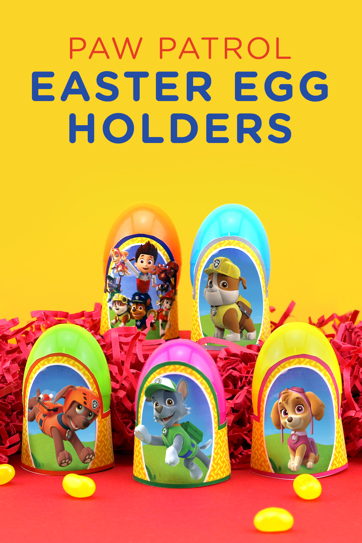 Paw Patrol Printable Easter Egg Holders