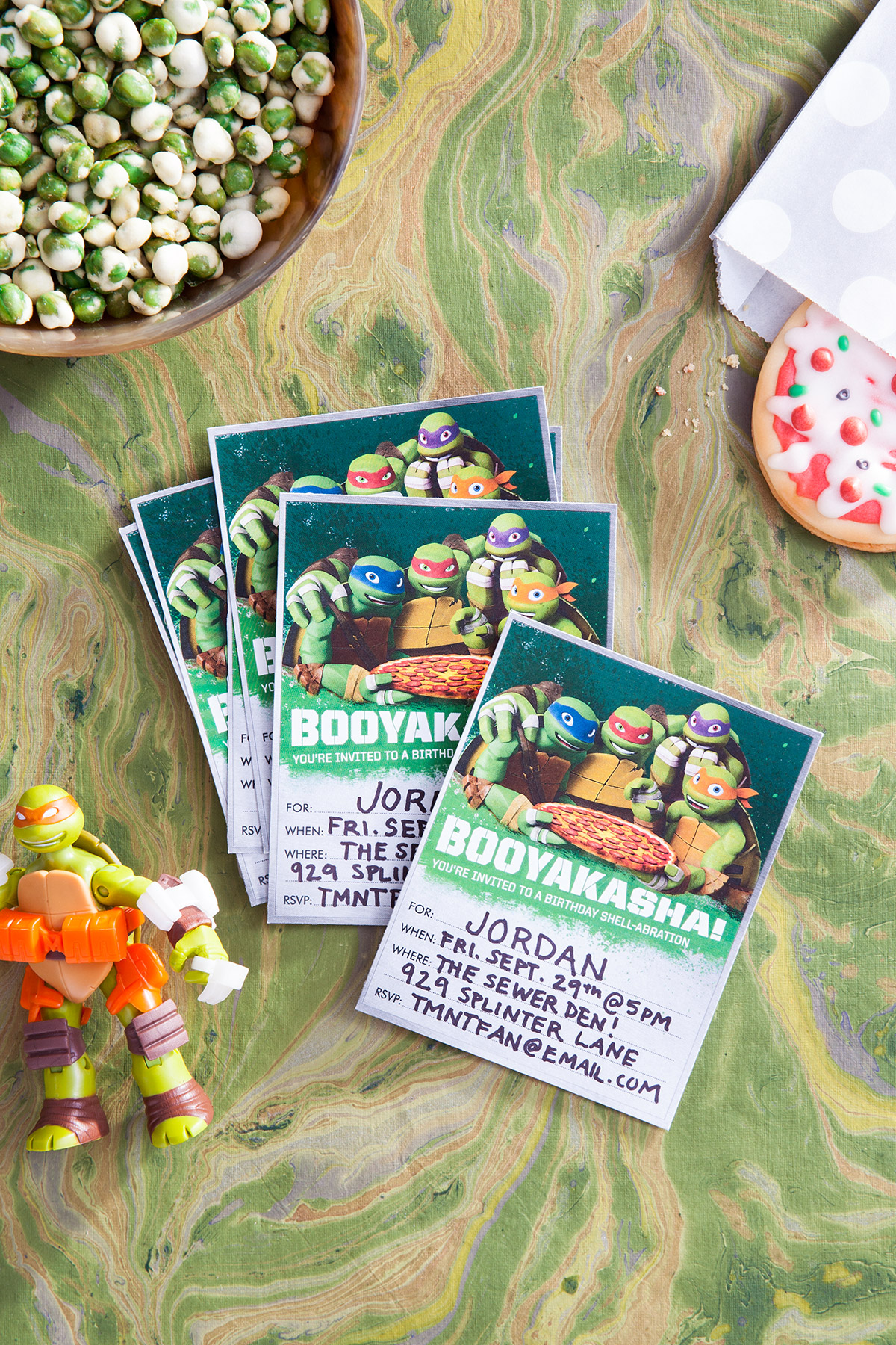Tmnt Booyakasha Party Invitations