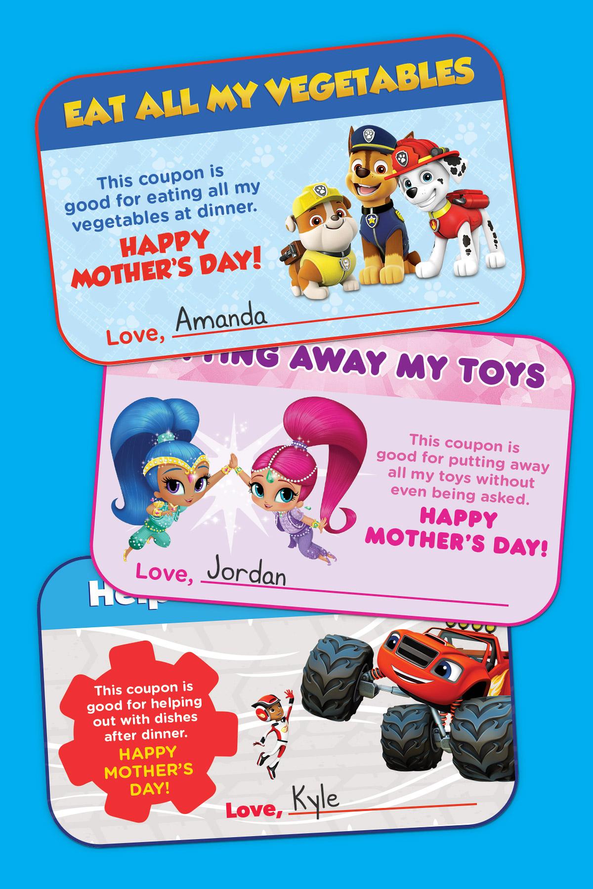 Nick Jr Mother S Day Coupon Book