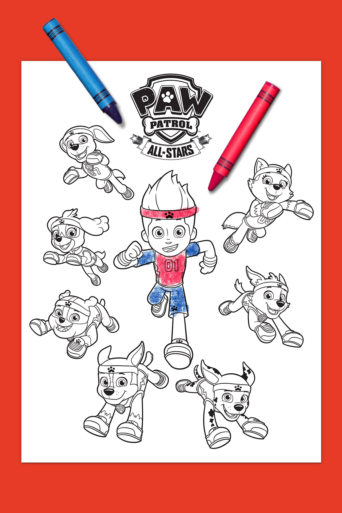 Paw Patrol All Stars Coloring Page
