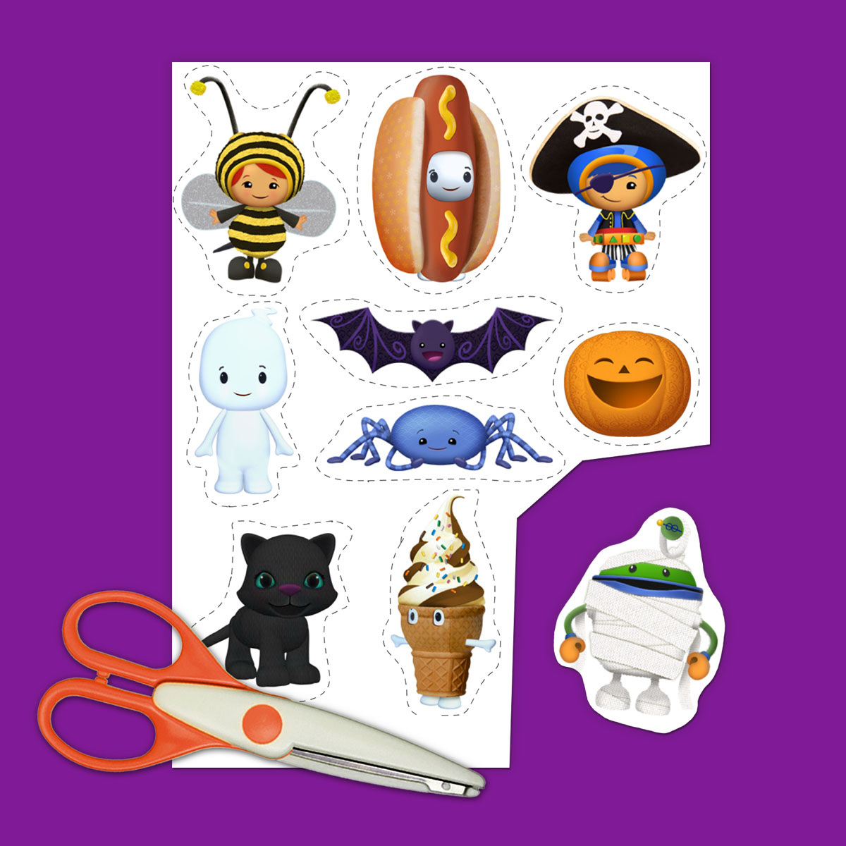 4 Team Umizoomi Halloween Printables