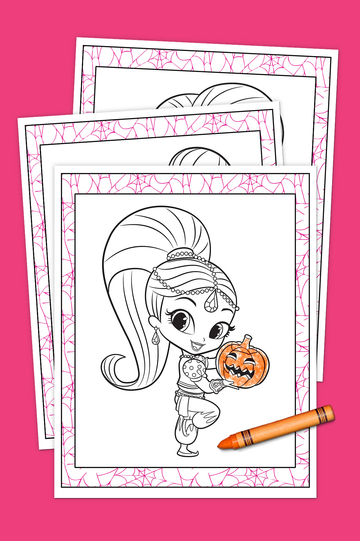Shimmer And Shine Halloween Coloring Pack