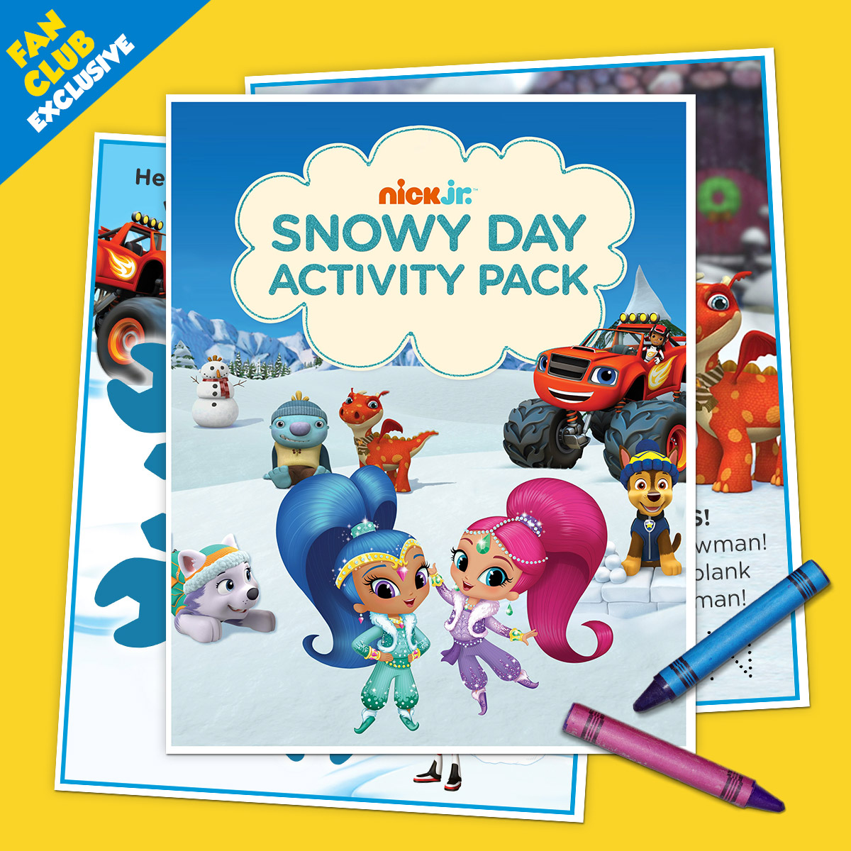 Fan Club Exclusive Snowy Day Activity Pack
