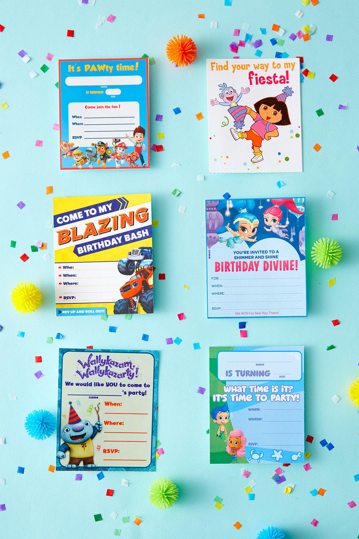 Nick Jr Printable Birthday Party Invitations