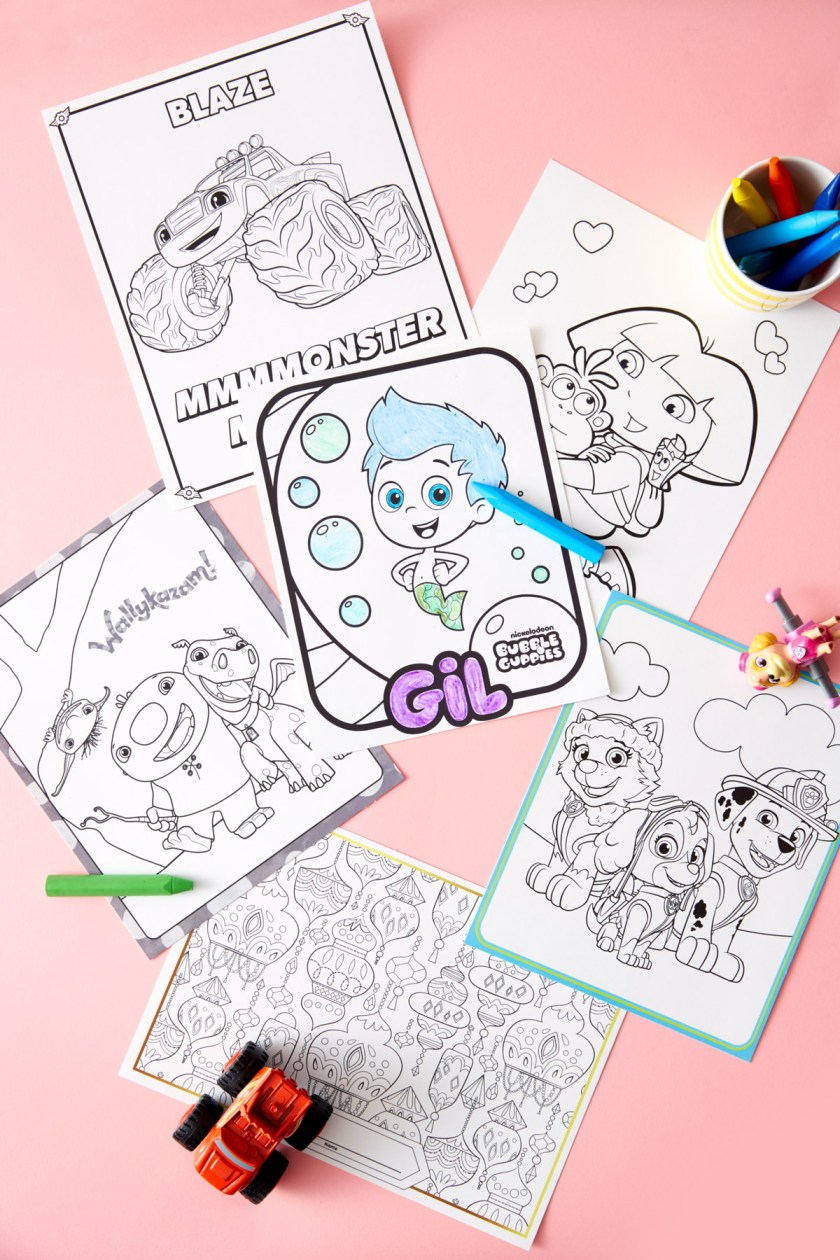 nickelodeon ryans mystery playdate coloring pages