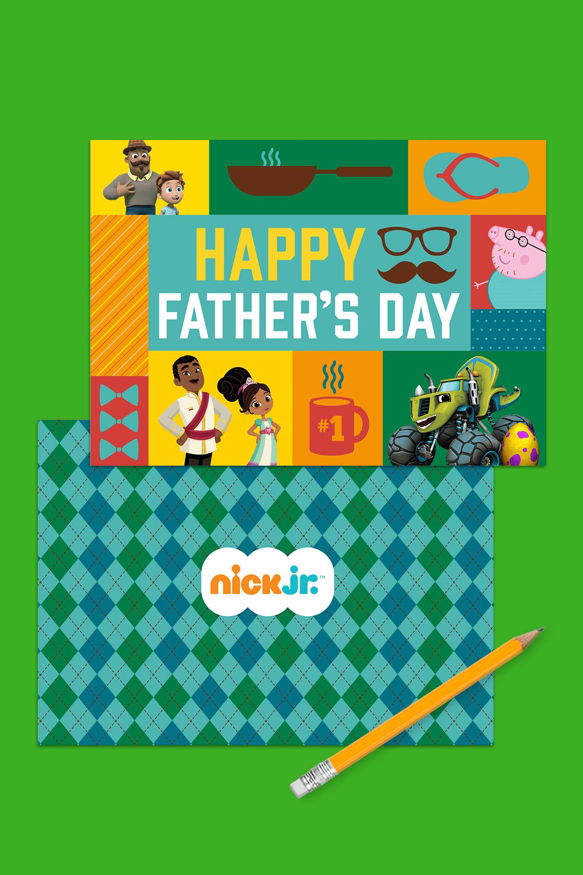 Nick Jr Printable Father S Day Card