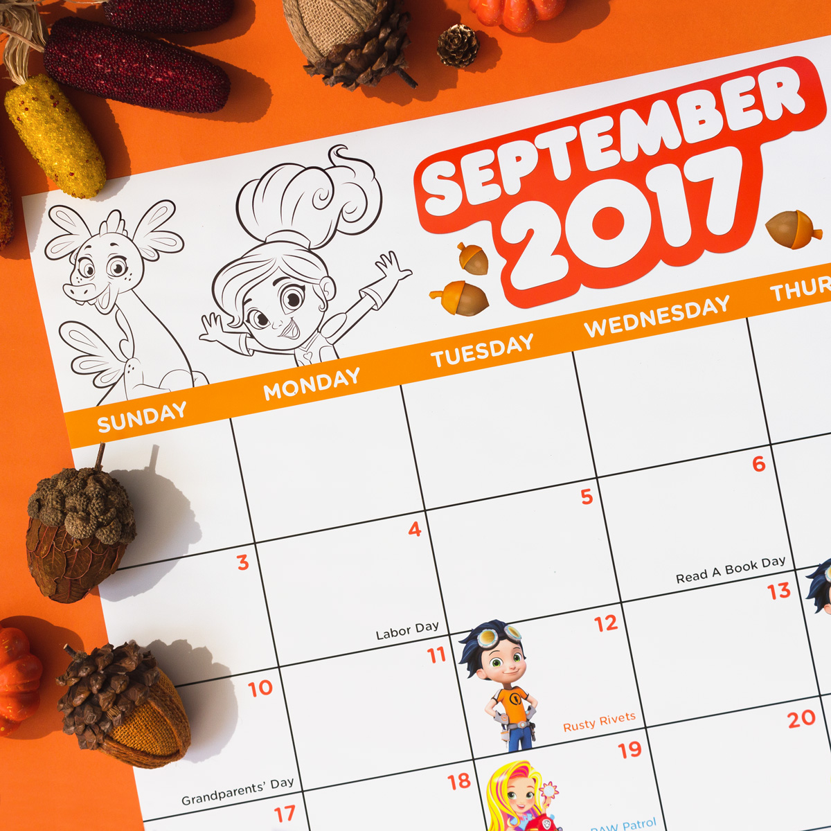 Nick Jr September Premieres Calendar