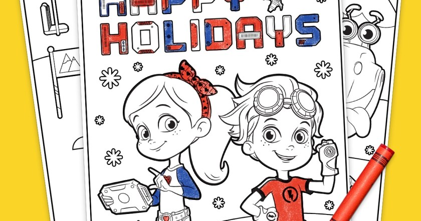 rusty rivets holiday coloring pack  nickelodeon parents