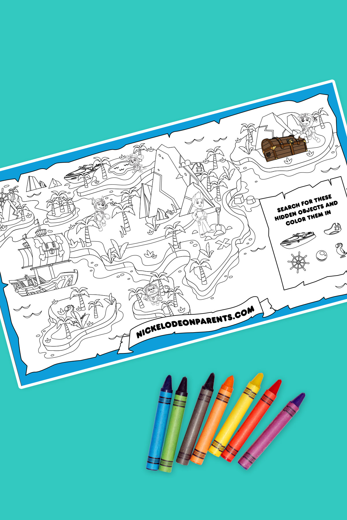 Sea Patrol Printable Treasure Map