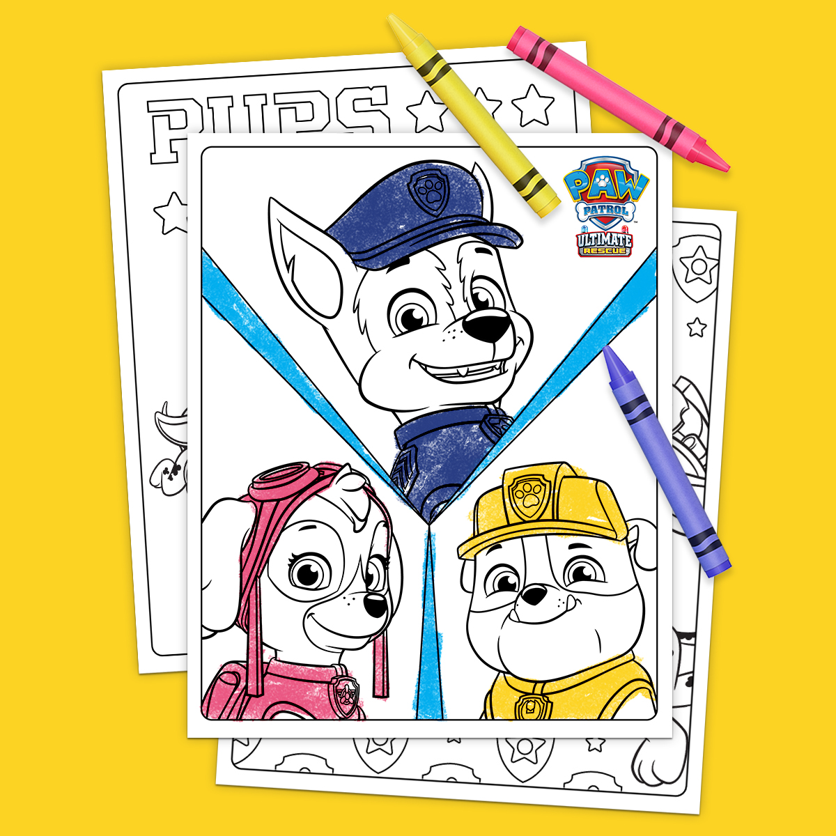 Paw Patrol Ultimate Rescue Coloring Pages