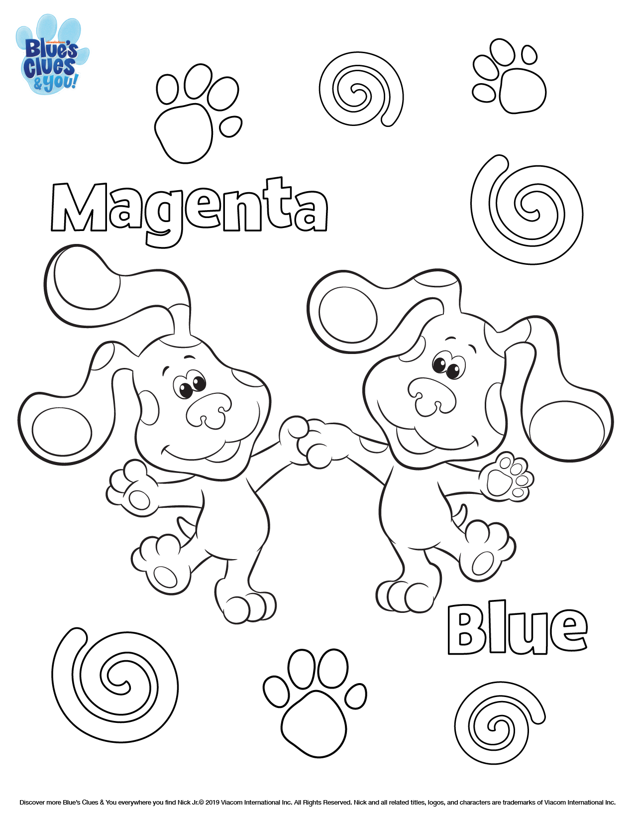 Blue S Clues Amp You Printable Coloring Page