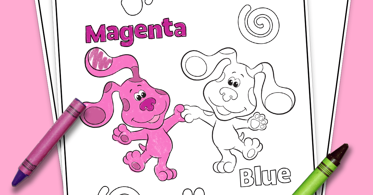 Blue S Clues You Printable Coloring Page Nickelodeon Parents