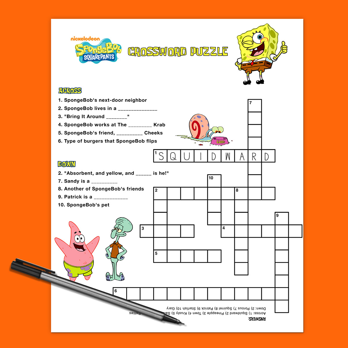 Our Best Spongebob Printables And Activities