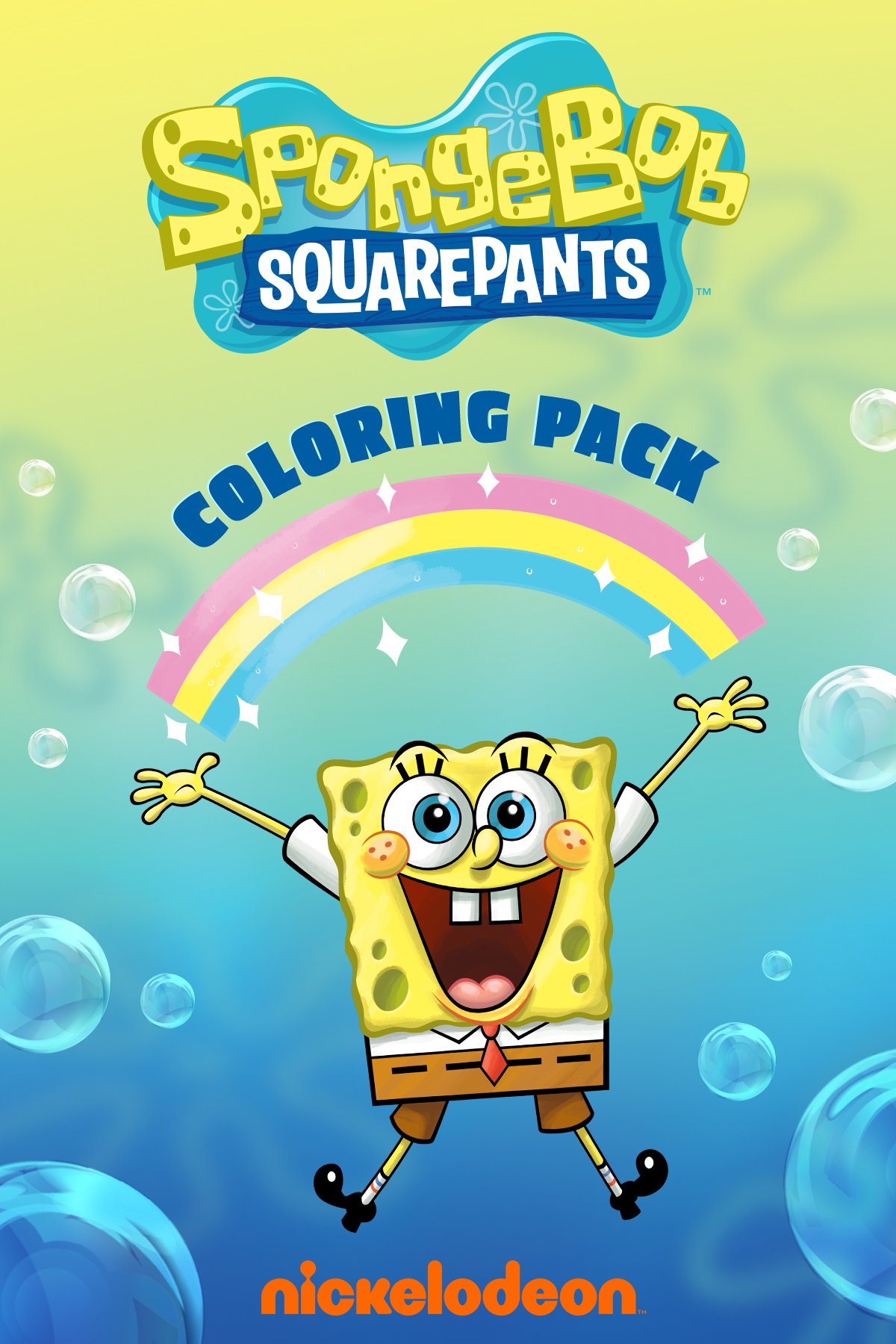4 Page Spongebob Coloring Pack