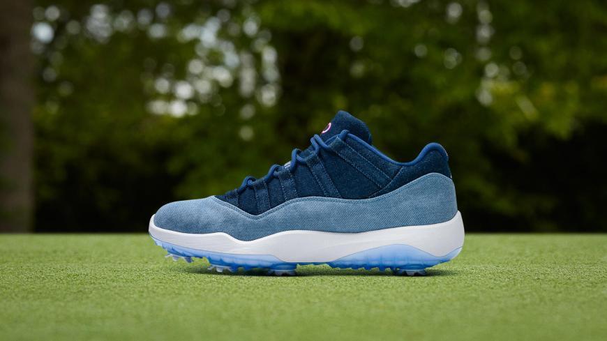 Nikenews featuredfootwear airjordan11low golf denim 1 hd 1600