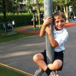 Félix commence sa première année à l'école privée