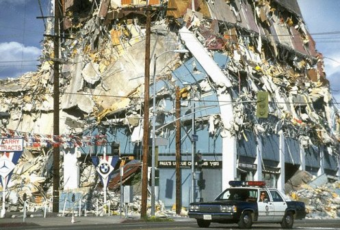 L.A. Earthquake aftermath - after 11 days you'd think it would stop. But no . . .