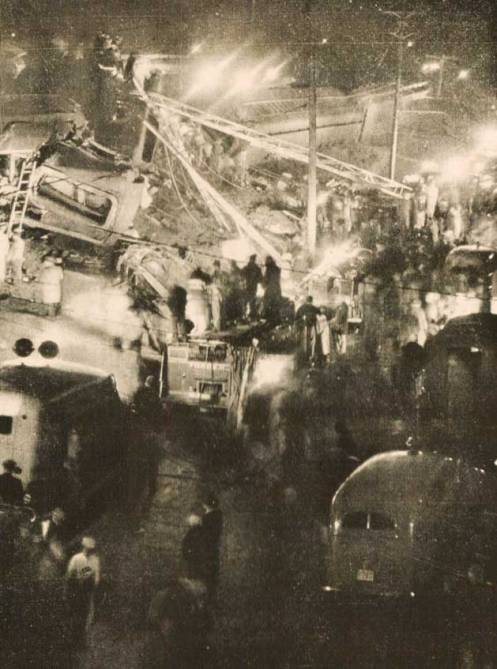 The Scene at Woodbridge, New Jersey -  A miracle more weren't killed.