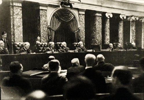 SCOTUS in the 1930s - not that much different now - First known photo of Supreme Court in session by Dr.Erich Salomon.
