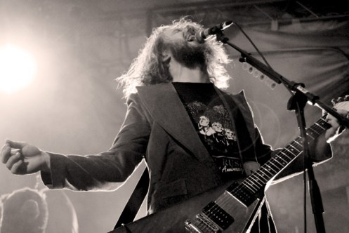 Jim James of My Morning Jacket - bringing a healthy dose of ethereal to the proceedings.