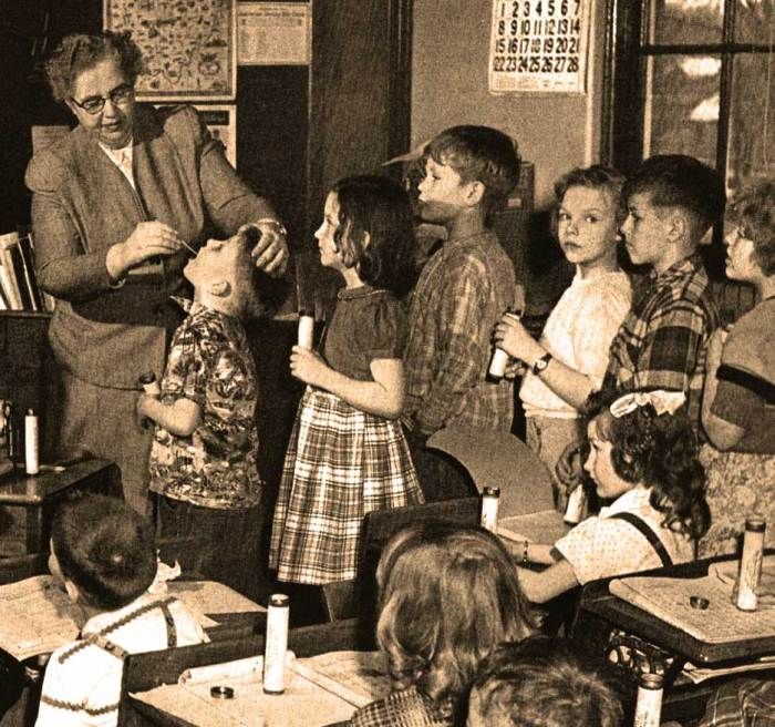 No matter what - in 1949  you couldn't get enough good teachers either.