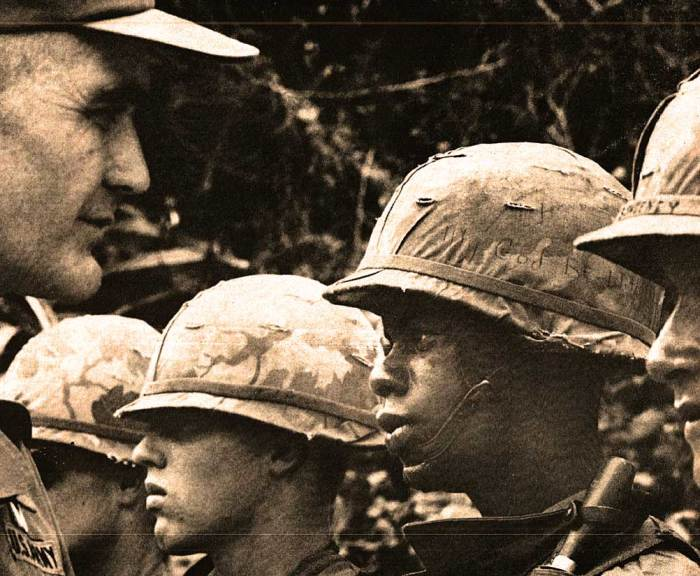 General Westmoreland and members of 101st Airborne. The job of selling the war would become harder as days wore on.
