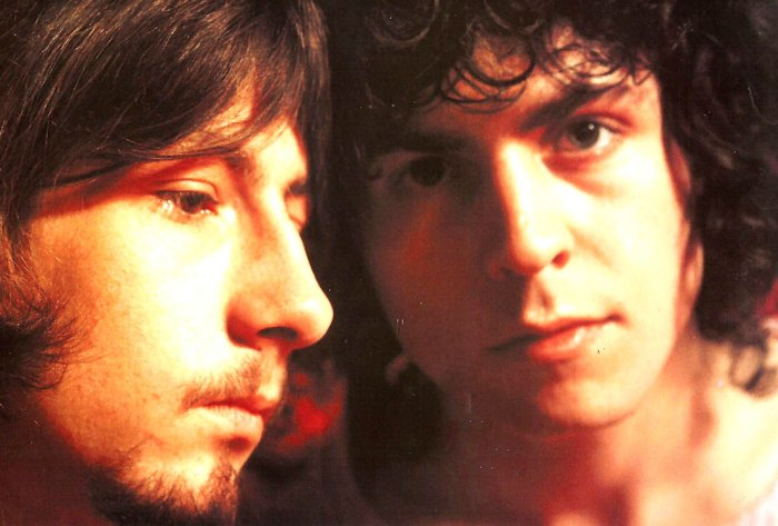 Marc Bolan and Steve Peregrin Took - back while they were still known as Tyranassaurus Rex.