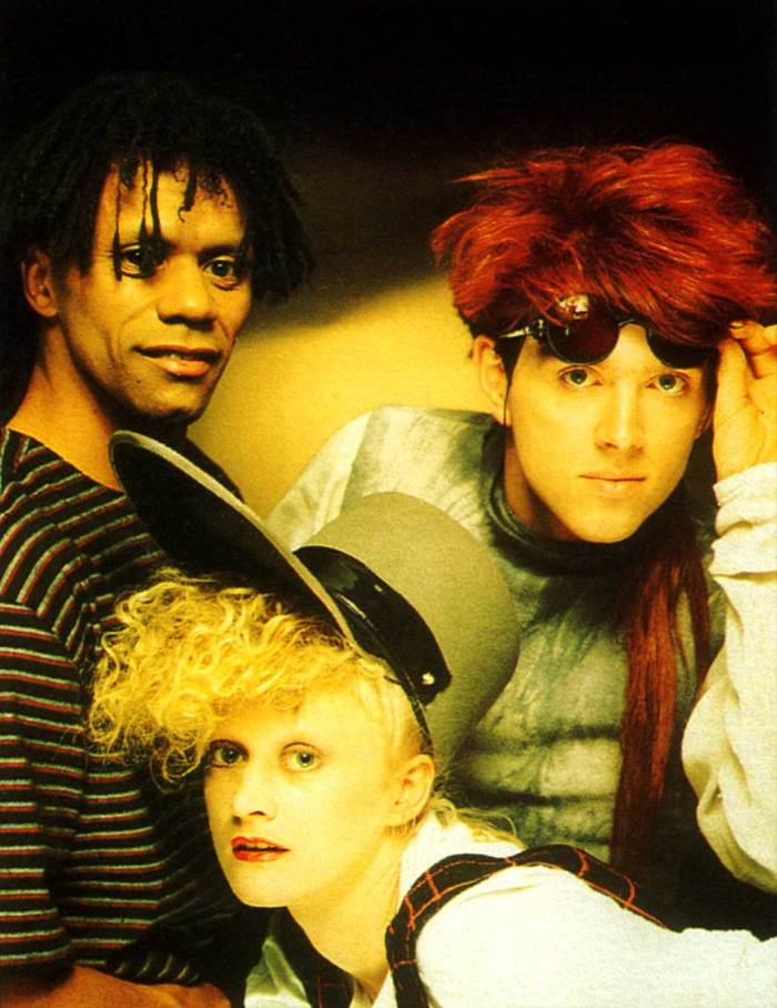 The Thompson Twins - it was the 80s after all.