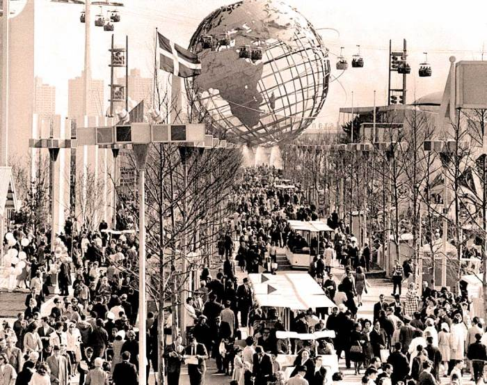 The New York World's Fair -  hopeful - but the rainy opening day should have been a sign.