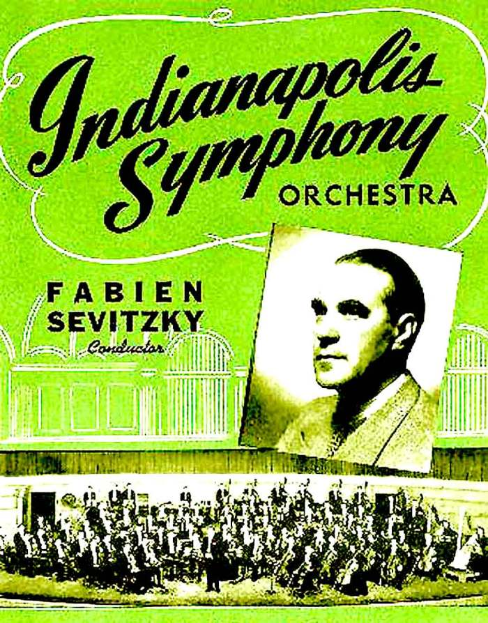Indianapolis Symphony poster - 1949. When every city, town and hamlet had a symphony orchestra of one kind or another.
