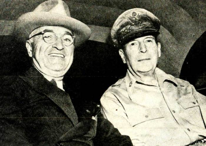 President Truman - Gen. Douglas MacArthur - on top of everything else; Korea.