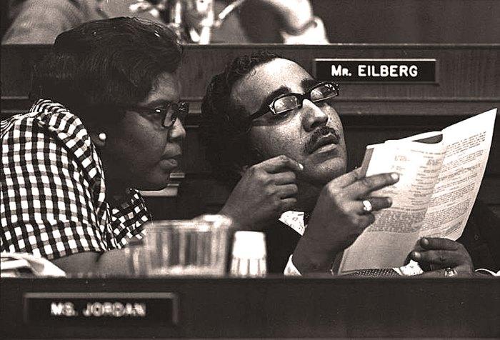 Barbara Jordan and Charles Rangel