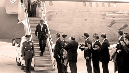 President Kennedy - arrival at Andrews Air Force Base