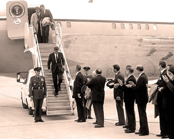 President Kennedy - arrival at Edwards Air Force Base