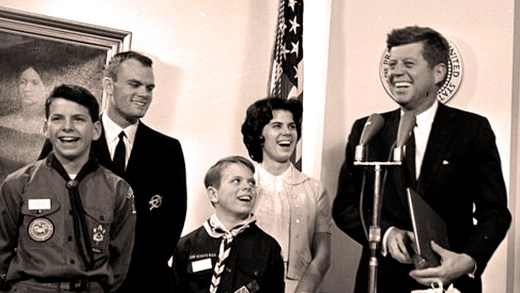 JFK with the Fair Family - White House 1962