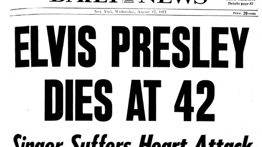 Elvis Presley death August 16, 1977