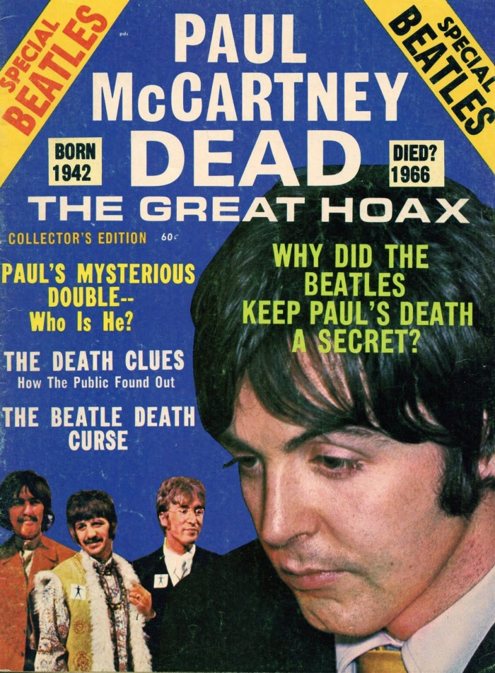 Paul McCartney death hoax 1969