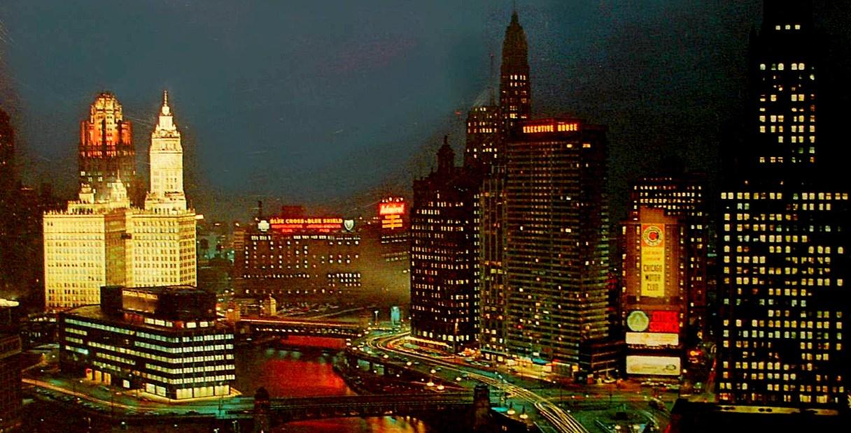 Chicago skyline - 1956