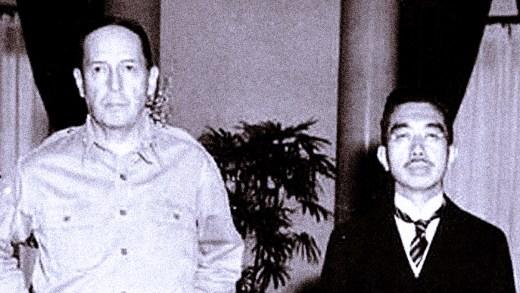 Gen. MacArthur - Emperor Hirohito - 1945