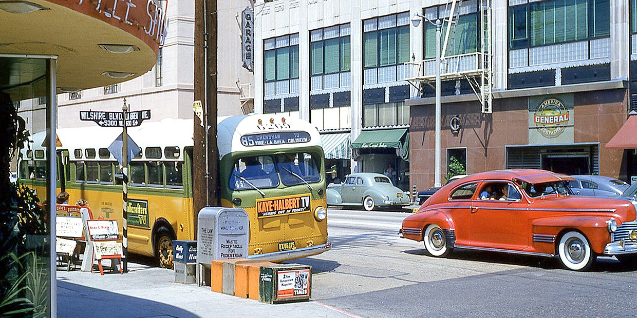 Los Angeles - Wilshire and LaBrea - 1957