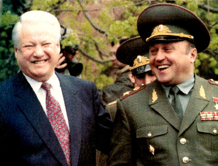 Yeltsin And Grachev